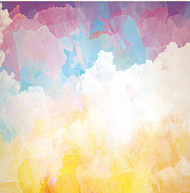 650x661 Fantasy Watercolor Poster Background Material, Watercolor, Poster
