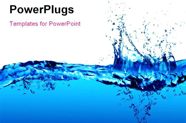 640x425 Water Powerpoint Template Crystal Water Template With Crystal