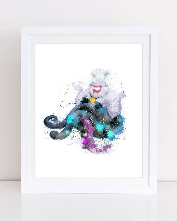 570x713 70% Watercolor Princess Disney Watercolor Watercolor Disney Etsy