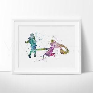 300x300 Rapunzel Tangled Watercolor Princess Nursery Art Print Wall Decor