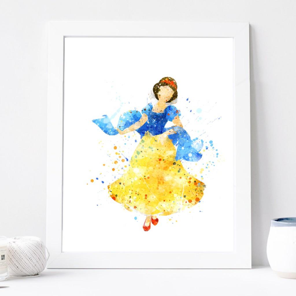 1024x1024 Snow White Print