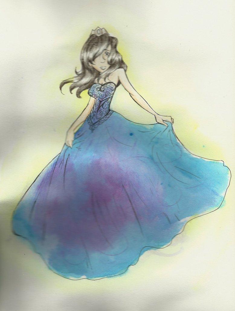 778x1027 Watercolor Princess By Glittergeekangel