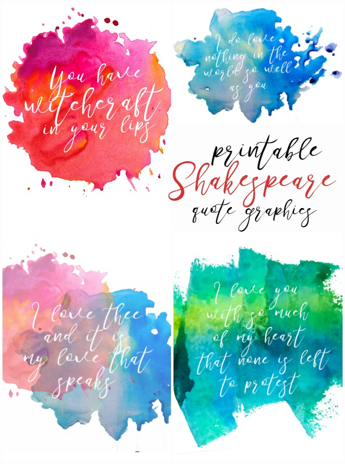 700x941 Watercolor Resist Style Shakespeare Quote Printables