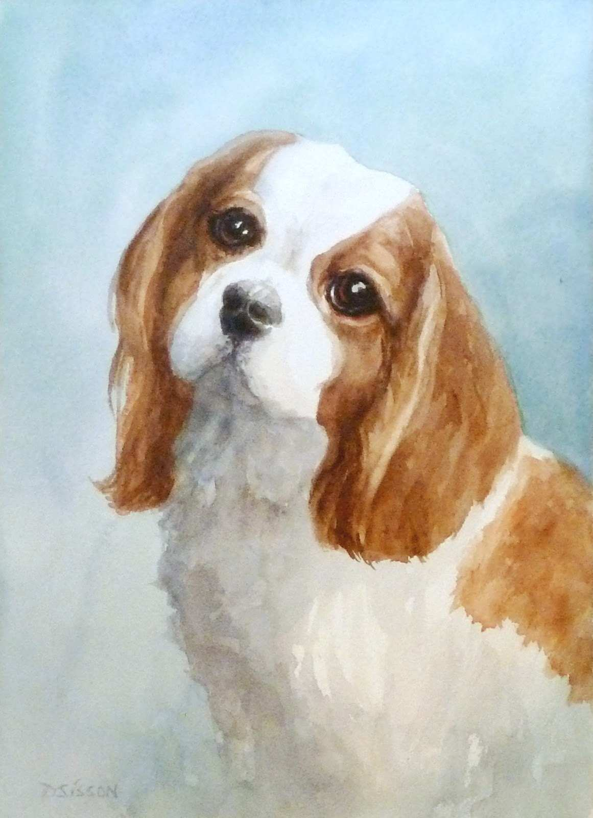 1161x1600 Puppy Painting Awesome Daily Painting Projects Watercolor Cavalier