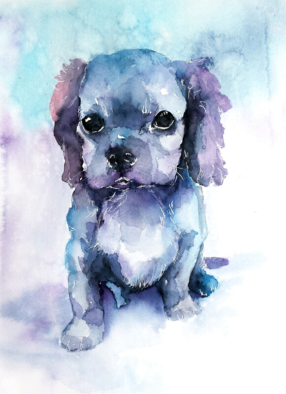 581x800 Watercolor Puppy (X Post From Rart) Aww