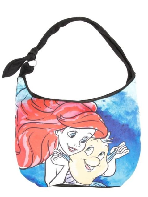 479x640 Disney The Little Mermaid Ariel Amp Flounder Watercolor Hobo Bag