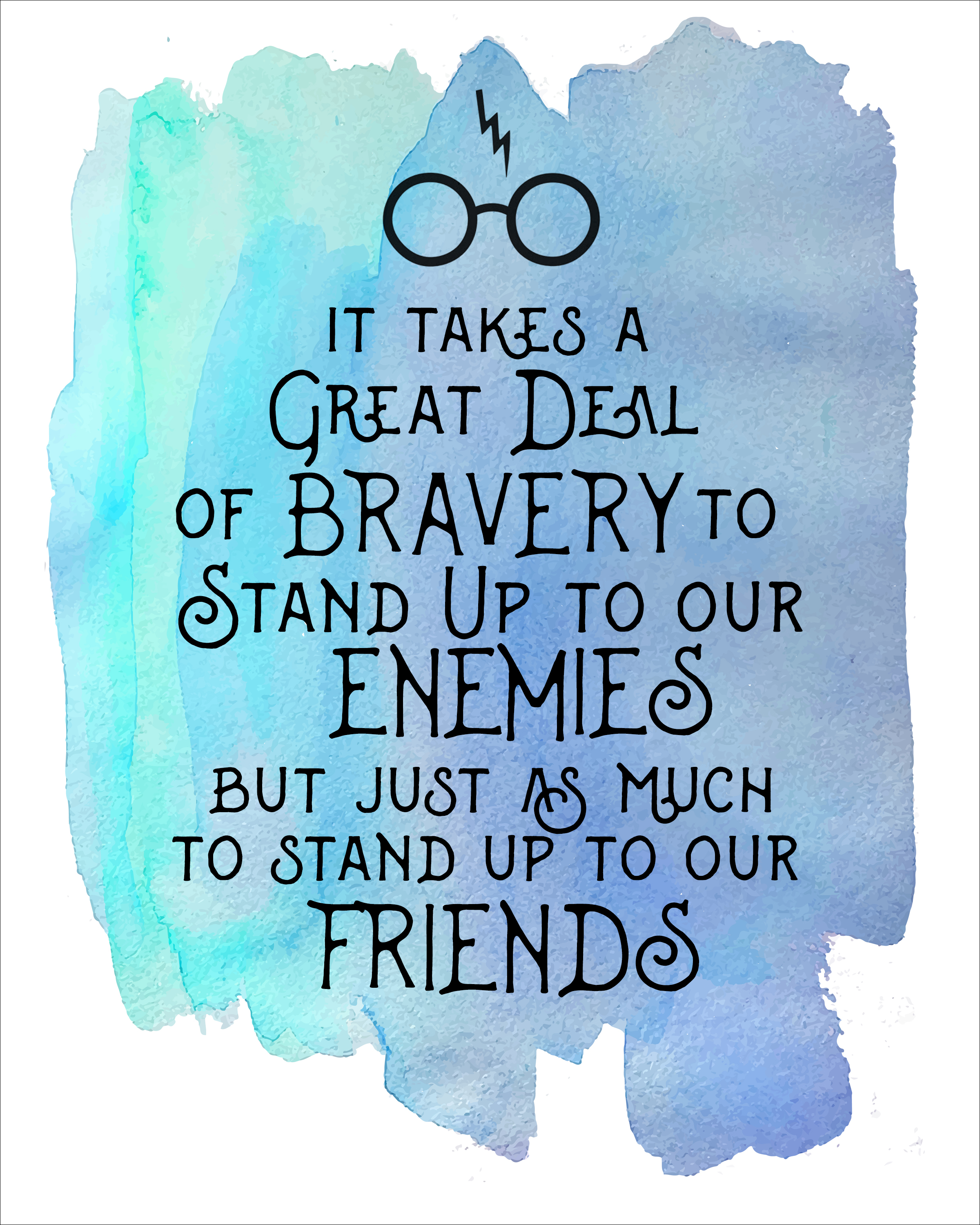 2400x3000 Harry Potter Watercolor Quote Printables