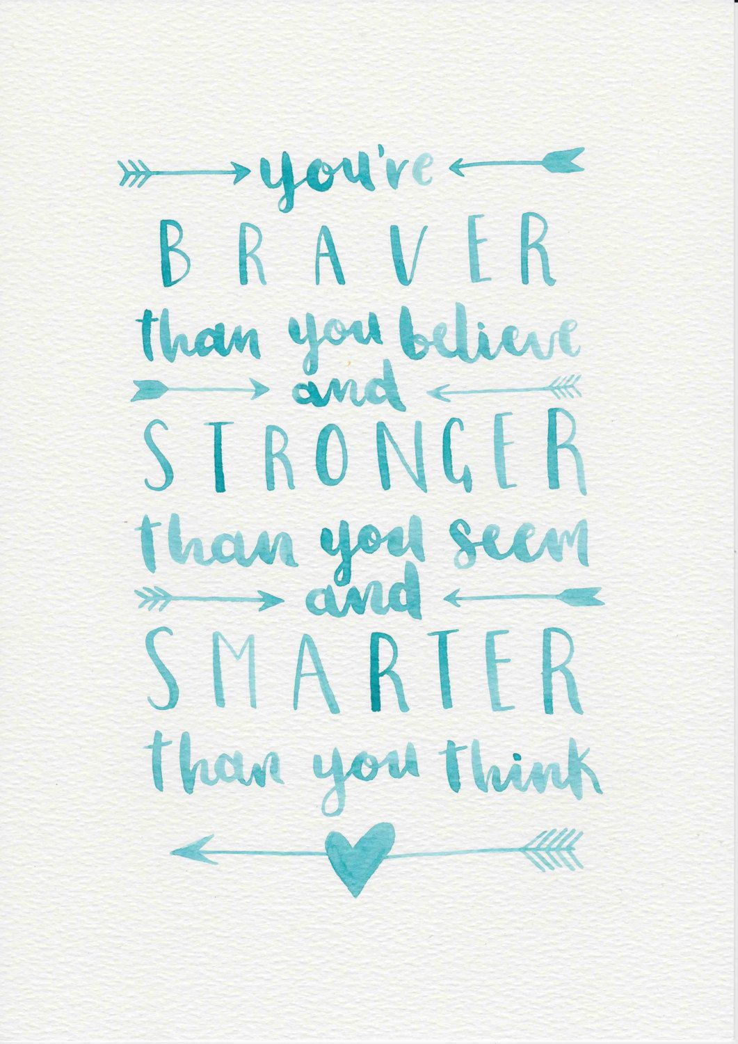 1061x1500 A A Milne Quote, Watercolor Painting, Watercolor Quote, Blue