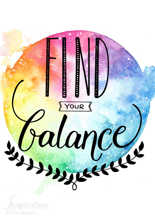 500x708 A Yoga Quote Find Your Balance With Watercolor.