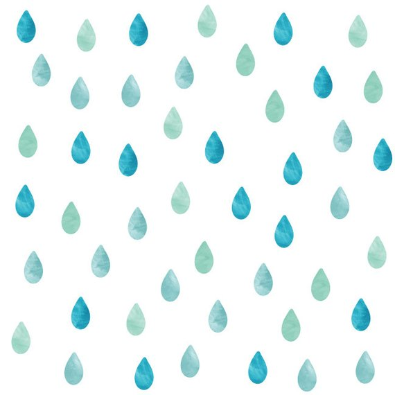 570x570 Raindrop Watercolor Wall Decals Raindrop Fabric Wall Decals Etsy