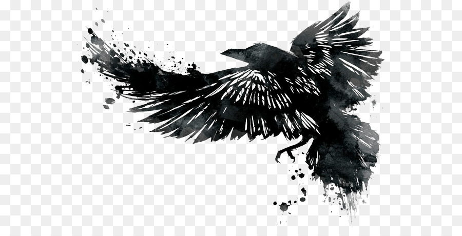 Watercolor Raven Tattoo At Getdrawings Com Free For