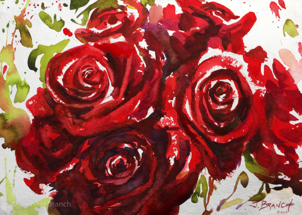 1000x713 Red Roses Painting Tutorial Watercolor Painting Tutorial