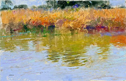 500x324 Water Reflection Painting Reflection River Painted Pond Water