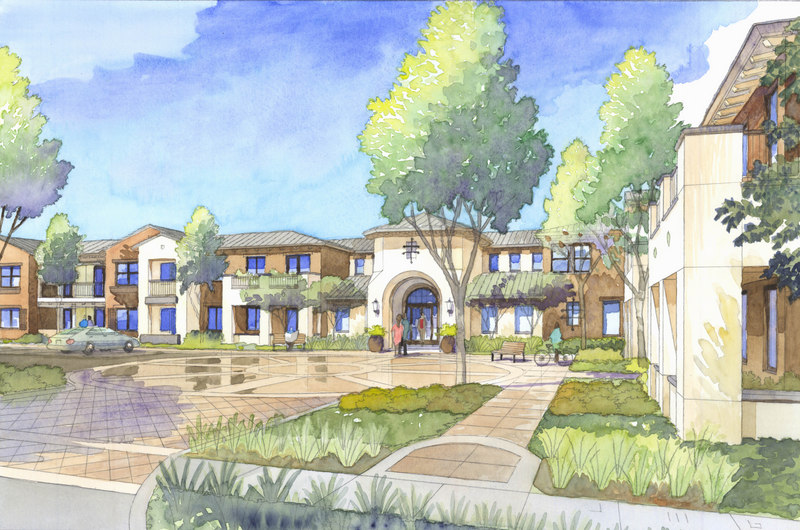 800x530 Watercolor Rendering Of Menlo Park Housing Project Jeffrey