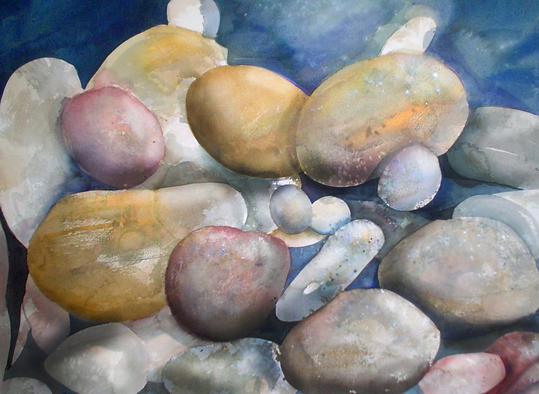 Watercolor Rocks