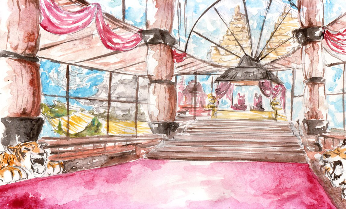 1148x696 Castle Throne Room Interior Concept Watercolor By Luqmanr On