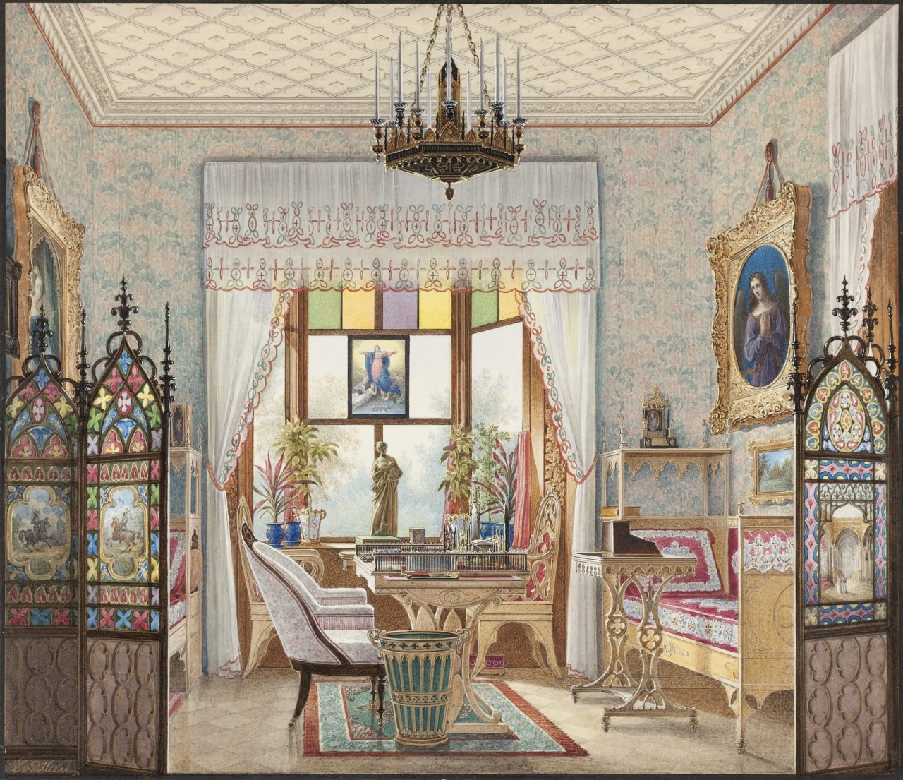 1280x1105 Domestic Interior Paintings Show How The 1% Lived In The 19th Century
