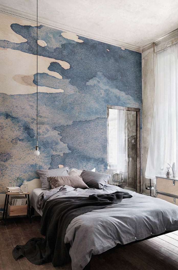 696x1057 Watercolor Wallpapers From Murals Wallpaper