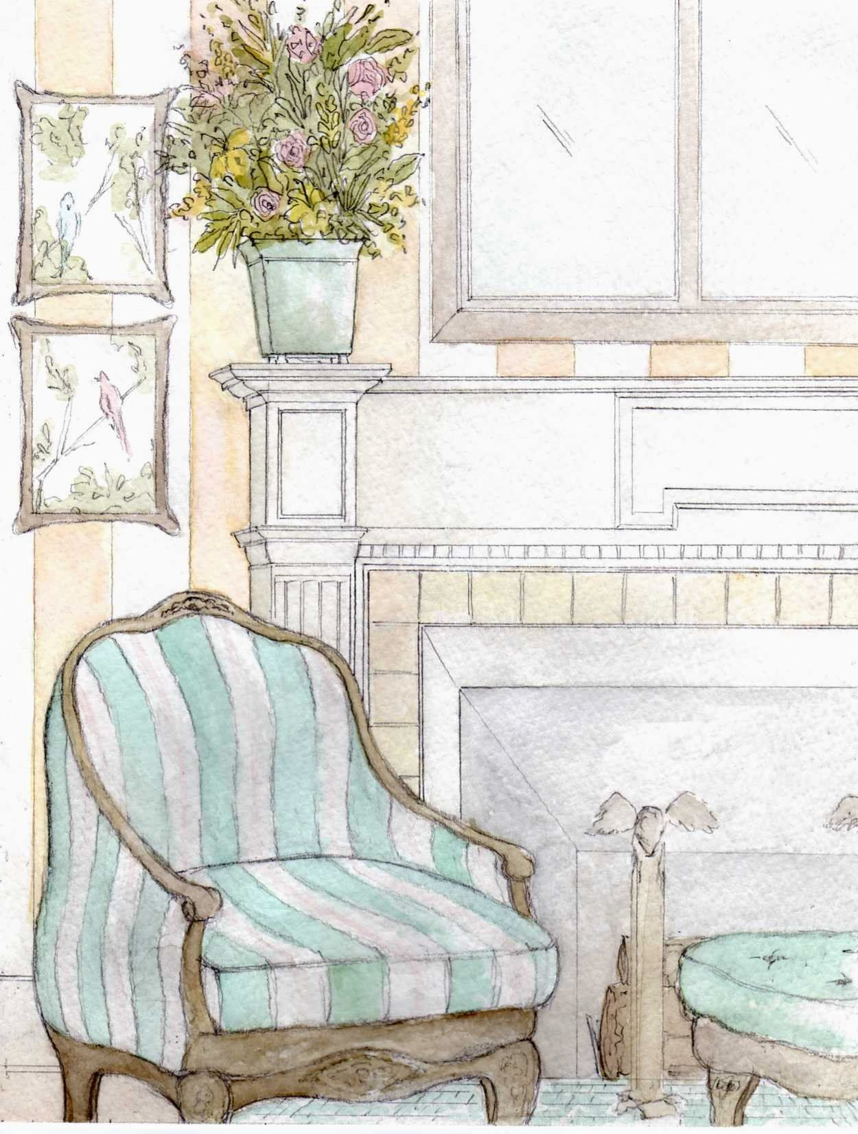 1250x1653 Interior Design Watercolor Interior Design Interior Design