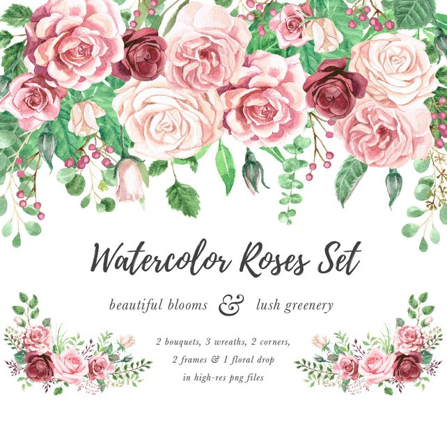 Watercolor Rose Clipart At Getdrawingscom Free For