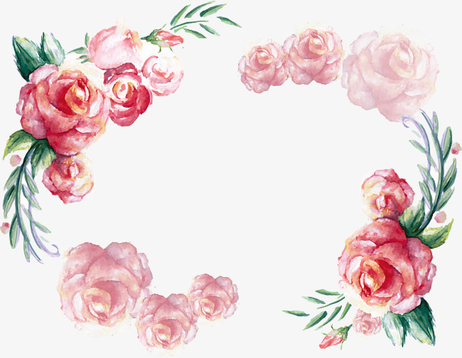 650x504 Watercolor Rose Frame, Rose Clipart, Frame Clipart, Vector Png Png