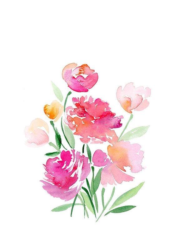 570x737 Watercolor Flower Ideas Unique 17 Best Ideas About Watercolor