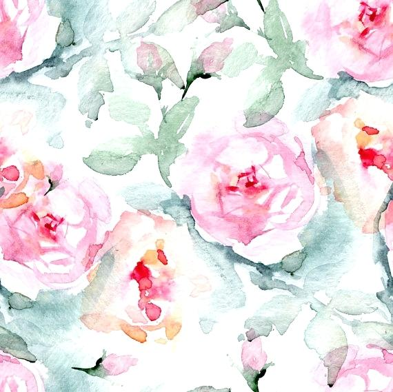 570x569 Large Flower Wallpaper Floral Watercolor Wallpaper Large
