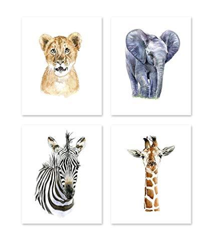 425x482 A2 Safari Theme Nursery Wall Art