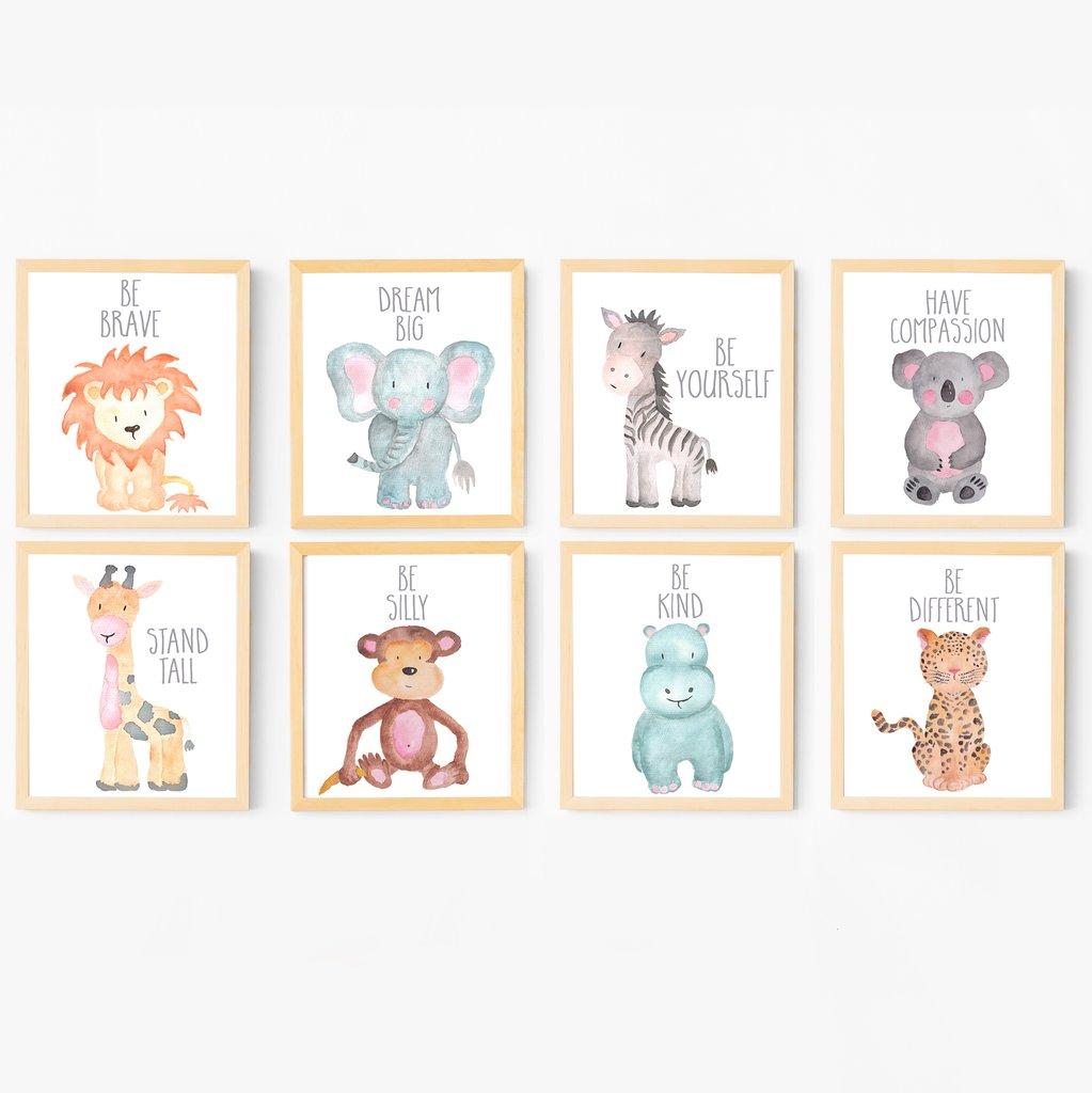 1023x1024 Safari Animal Nursery Art