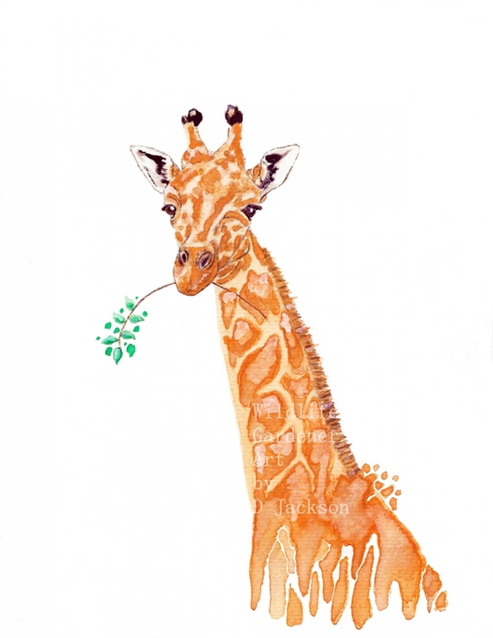 1600x2068 Safari Animals Watercolor Art Prints, Blue Elephant, Orange
