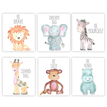 425x425 Nursery Decor Nursery Art Baby Animal Wall Art Safari
