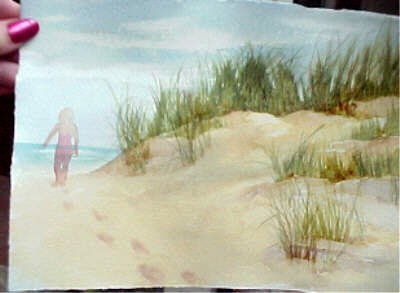 400x293 How To Paint Footprints In The Sand In Watercolor