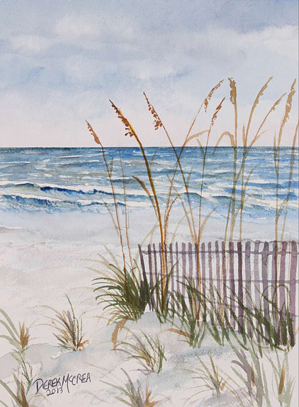 422x575 Prints, Beach Sand Dunes Watercolor Painting,