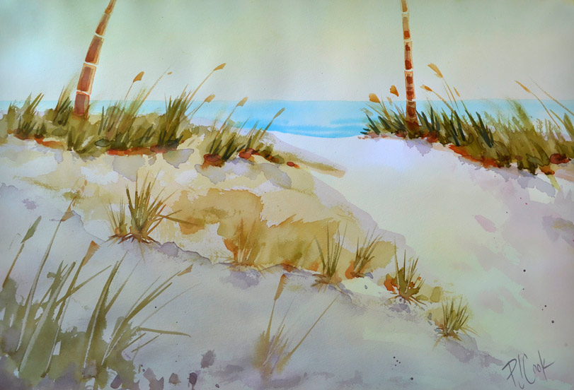 811x552 Sand Dune Aglow Painting