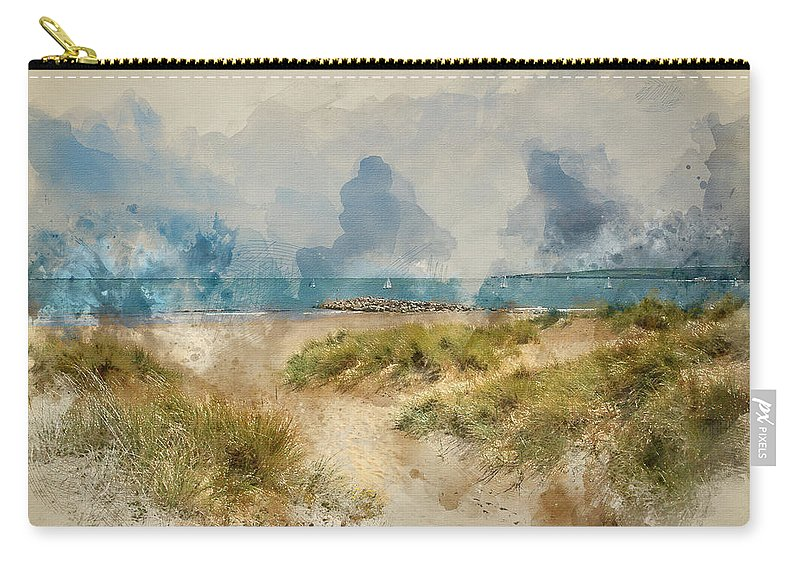 800x570 Digital Watercolor Painting Of Beautiful Sand Dunes And Beach