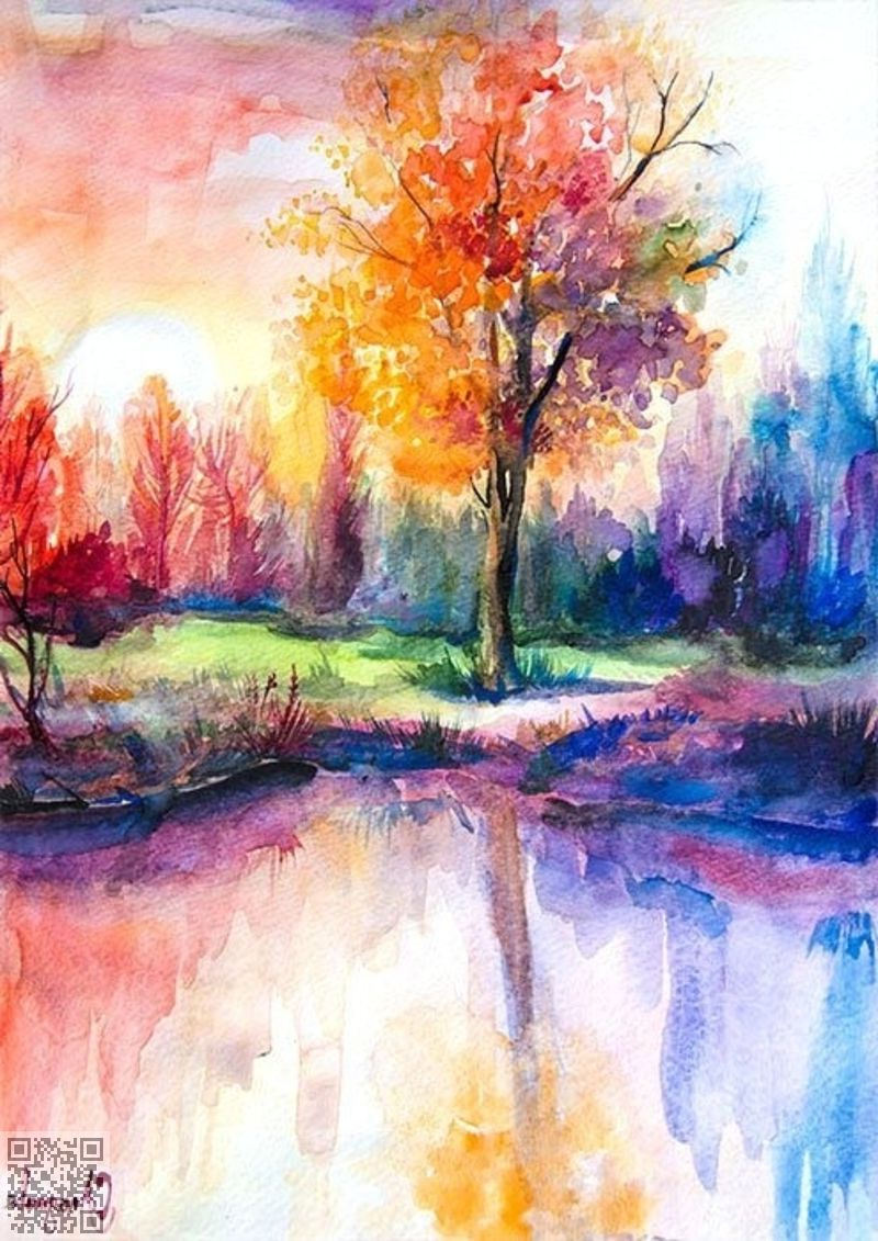 800x1131 Water Color Landscape Painting Pretty Watercolor Landscape