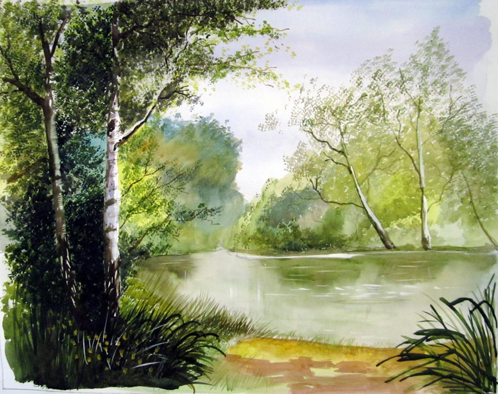 971x768 Watercolor Scenery Paintings Watercolor Landscape Canvas Paintings
