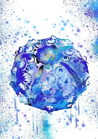 389x550 Sea Urchin, Ocean Art, Sea Life, Watercolor Sea Urchin Posters By