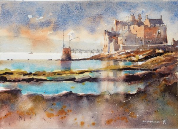 600x435 Painting Watercolor Seascapes From Photos