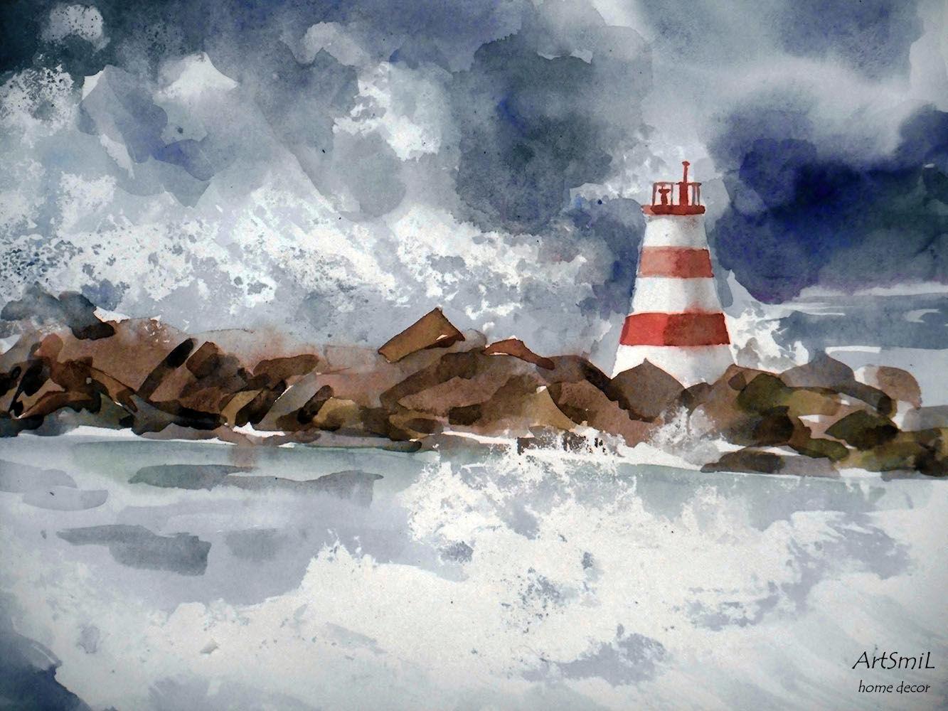 1333x1000 Picture. Watercolor. Seascape. Painting Watercolor Shop Online