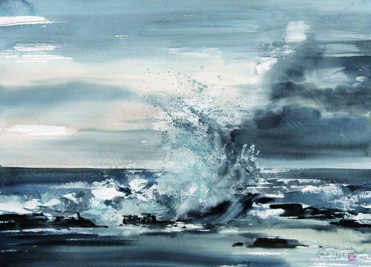 750x541 Art Of Watercolor Seascape In Watercolor