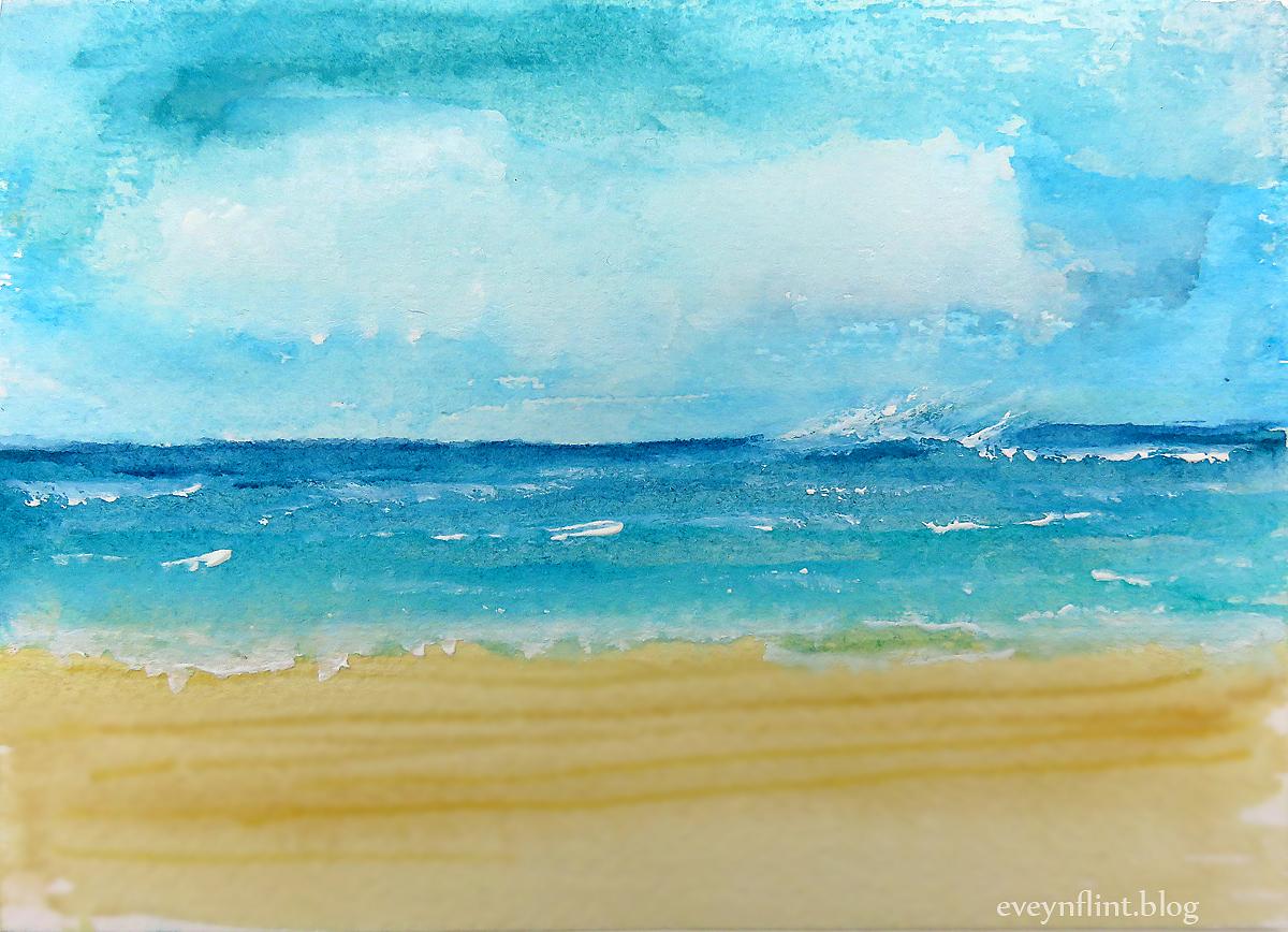 1200x868 Quick Watercolour Seascapes Evelynflint.blog
