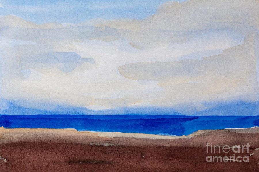 900x599 Seascape Watercolor Painting By Lutz Baar