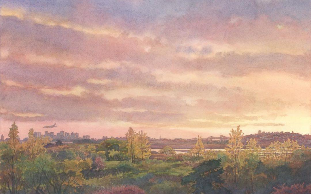 1080x675 Sunset Symphony In Sea Marsh En Plein Air Watercolor Seascape
