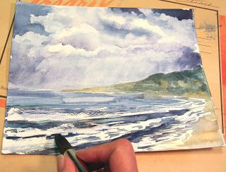 320x244 Step By Step Art Tutorial How To Paint A Stormy Seascape In