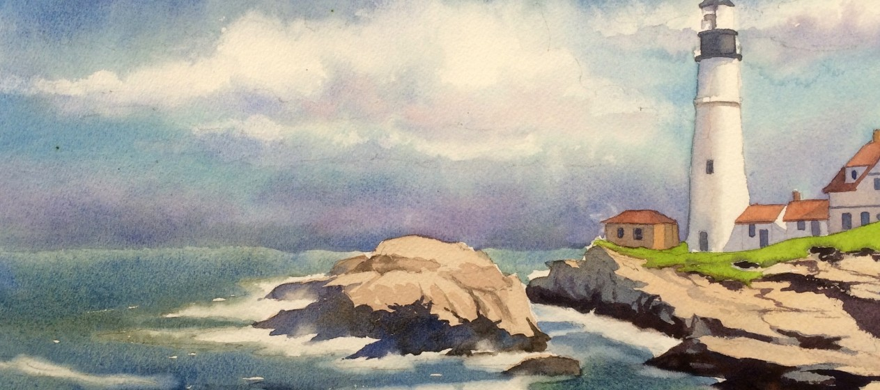 1263x560 Classic Step By Step How To Paint A Seascape (Pics)