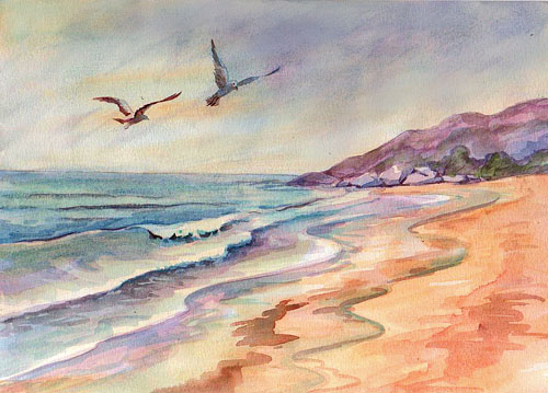 500x359 How To Paint A Seascape In Watercolor