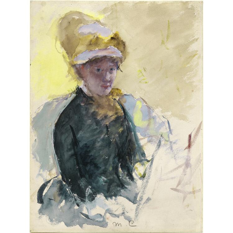 750x750 Mary Cassatt Self Portrait National Portrait Gallery