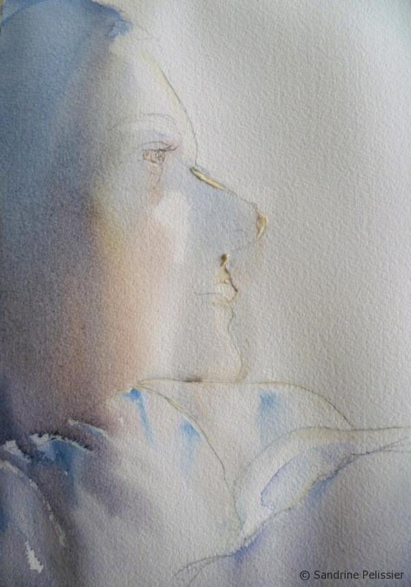 600x858 Watercolor Portrait Step By Step Painting Tutorial Self Portrait