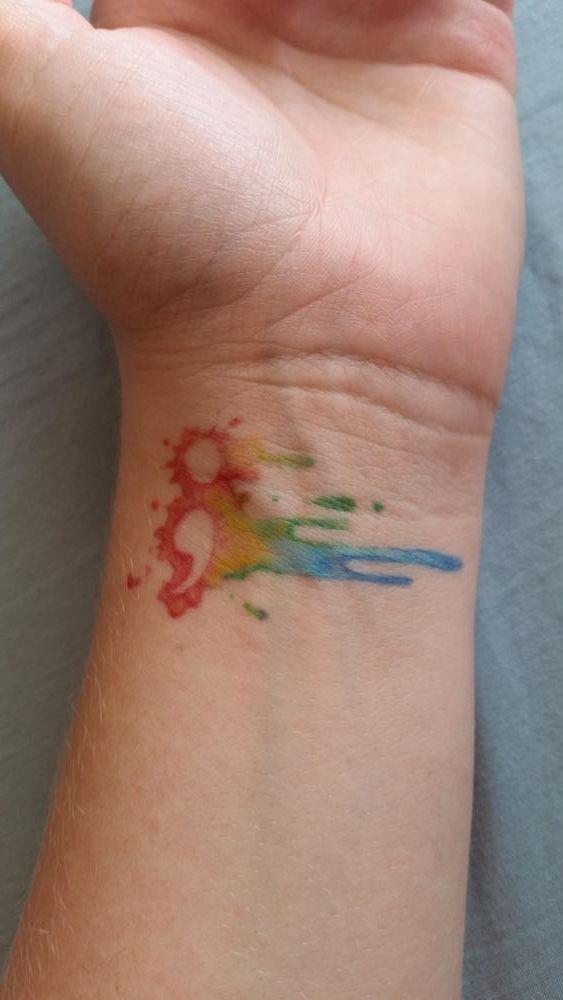 Watercolor Semicolon